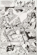 Original Comic Art:Story Page, Rob Liefeld The New Mutants #100 Story Page 18 Original Art (Marvel 1988)....