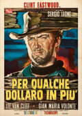 "Movie Posters:Western, For For a Few Dollars More (P.E.A., 1965). Very Fine- on Linen. Italian 2 - Fogli (39"" X 55"") Rodolfo Gasparri Artwork.. ..."