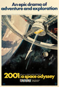 """Movie Posters:Science Fiction, 2001: A Space Odyssey (MGM, 1968). Fine+ on Linen. Cinerama Poster (40"""" X 60"""") Robert McCall Artwork.. ..."""