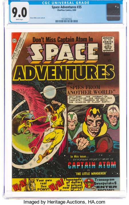 Space Adventures #35 (Charlton, 1960) CGC VF/NM 9.0 White pages....