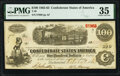 Confederate Notes:1862 Issues, Red Validation Date Stamp T40 $100 1862 PF-1 Cr. 298 PMG Choice Very Fine 35.. ...