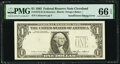 Error Notes:Inking Errors, Insufficient Inking of Third Printing Error Fr. 1913-D $1 1985 Federal Reserve Note. PMG Gem Uncirculated 66 EPQ.. ...