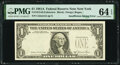 Error Notes:Inking Errors, Insufficient Inking of Third Printing Error Fr. 1912-B $1 1981A Federal Reserve Note. PMG Choice Uncirculated 64 EPQ.. ...