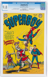 Superboy #17 (DC, 1951) CGC NM/MT 9.8 Off-white to white pages