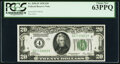 Fr. 2050-D $20 1928 Federal Reserve Note. PCGS Choice New 63PPQ
