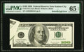 Error Notes:Foldovers, Butterfly Fold Error Fr. 2175-J $100 1996 Federal Reserve Note. PMG Gem Uncirculated 65 EPQ.. ...