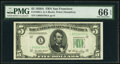 Small Size:Federal Reserve Notes, Fr. 1962-L $5 1950A Federal Reserve Note. PMG Gem Uncirculated 66 EPQ.. ...