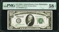 Fr. 2001-C $10 1928A Federal Reserve Note. PMG Choice About Unc 58 EPQ