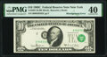 Shifted Third Printing Error Fr. 2021-B $10 1969C Federal Reserve Note. PMG Extremely Fine 40