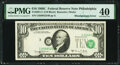 Shifted Third Printing Error Fr. 2021-C $10 1969C Federal Reserve Note. PMG Extremely Fine 40