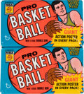 Basketball Cards:Unopened Packs/Display Boxes, 1970 Topps Basketball Unopened Wax Packs Pair (2). ...