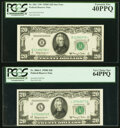 Fr. 2064-B*; L $20 1950E Federal Reserve Notes. PCGS Graded Extremely Fine 40PPQ; Very Choice New 64PPQ. ... (Total: 2)