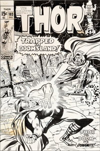 John Buscema and John Verpoorten Thor #183 Cover Original Art (Marvel, 1970)