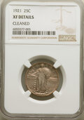 1921 25C -- Cleaned -- NGC Details. XF. Mintage 1,916,000. From The Stirling Family Collection....(PCGS# 5740)
