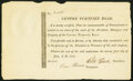 PA - Centre Turnpike Road Share Certificate July 21, 1812 Very Fine