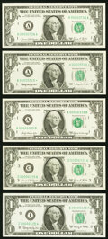 Low Serial Numbers $1 Federal Reserve Notes. Choice Crisp Uncirculated; 00000125 Fr. 1901-I 1963A; 00000736 Fr. 1907-A 1...