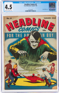 Headline Comics #8 (Prize, 1944) CGC VG+ 4.5 Cream to off-white pages