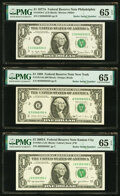 Radar 62066026 Fr. 1910-C $1 1977A Federal Reserve Note. PMG Gem Uncirculated 65 EPQ; Radar 59988995 Fr. 1914-B $1 1988...