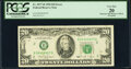 Wrong Color Ink on District Overprint Error Fr. 2077-B $20 1990 Federal Reserve Note. PCGS Very Fine 20