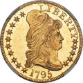 1795 $5 Small Eagle, S Over D, BD-6, R.5, MS65 Prooflike NGC....(PCGS# 519855)