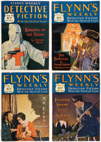 Detective Fiction Weekly Box Lot (Red Star Magazine, 1927-28) Condition: Average VG/FN