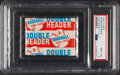 Baseball Cards:Unopened Packs/Display Boxes, Rare 1955 Topps Doubleheader Unopened Wax Pack PSA NM-MT 8. ...