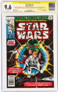 Bronze Age (1970-1979):Superhero, Star Wars #1 Signature Series (Marvel, 1977) CGC NM+ 9.6 White pages....