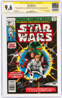 Star Wars #1 Signature Series (Marvel, 1977) CGC NM+ 9.6 White pages