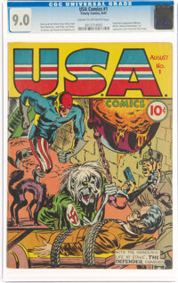 USA Comics #1 (Timely, 1941) CGC VF/NM 9.0 Cream to off-white pages