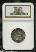 Seated Quarters: , 1859 MS62 NGC. ...