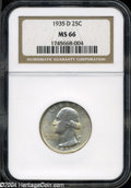 Washington Quarters: , 1935-D MS66 NGC. ...