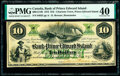 Canada Charlotte Town, PEI- Bank of Prince Edward Island $10 1.1.1872 Ch.# 600-12-14R Remainder PMG Extremely Fine 40...