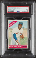 Baseball Cards:Unopened Packs/Display Boxes, 1966 Topps Baseball Cello Pack (7th Series) PSA EX 5 - Very Scarce High-Number Pack! ...