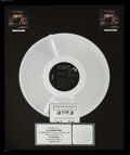 Music Memorabilia:Awards, Bruce Hornsby and the Range The Way It Is RIAA Flower Hologram Platinum Sales Award....