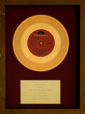 """Music Memorabilia:Awards, The New Seekers """"I'd Like to Teach the World to Sing (In Perfect Harmony)"""" In-House Gold Sales Award. ..."""