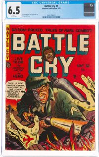 Battle Cry #1 (Stanmor, 1952) CGC FN+ 6.5 White pages
