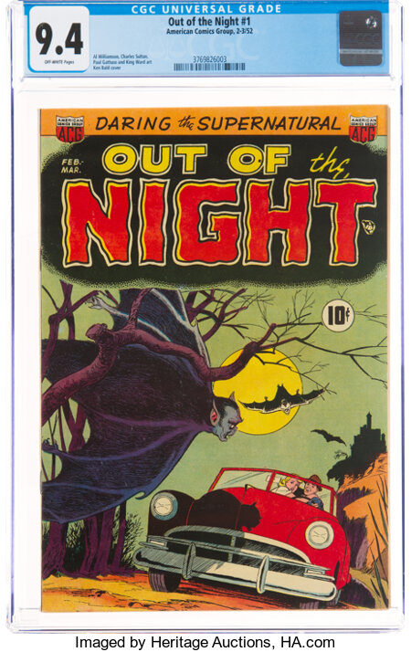 Out of the Night #1 (ACG, 1952) CGC NM 9.4 Off-white pages....