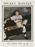 """Autographs:Others, Mickey Mantle """"Triple Crown 1956"""" Signed Oversized Print. ..."""