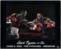 Boxing Collectibles:Autographs, Mike Tyson Signed LeRoy Neiman Print. ...