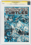 Modern Age (1980-Present):Alternative/Underground, Teenage Mutant Ninja Turtles #3 Variant Cover - Signature Series (Mirage Studios, 1985) CGC NM/MT 9.8 White pages....