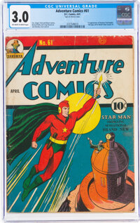 Adventure Comics #61 (DC, 1941) CGC GD/VG 3.0 Off-white to white pages