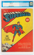 Golden Age (1938-1955):Superhero, Superman #2 (DC, 1939) CGC VG+ 4.5 Cream to off-white pages....