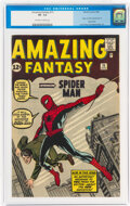 Silver Age (1956-1969):Superhero, Amazing Fantasy #15 (Marvel, 1962) CGC VF- 7.5 Off-white to white pages....