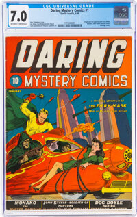 Daring Mystery Comics #1 (Timely, 1940) CGC FN/VF 7.0 Off-white to white pages