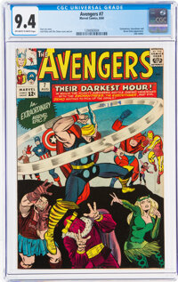 The Avengers #7 (Marvel, 1964) CGC NM 9.4 Off-white to white pages