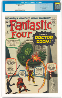 Fantastic Four #5 (Marvel, 1962) CGC VF+ 8.5 White pages