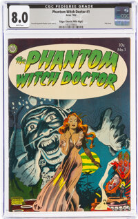 The Phantom Witch Doctor #1 Mile High Pedigree (Avon, 1952) CGC VF 8.0 White pages