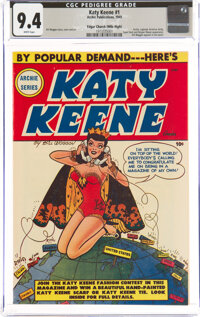 Katy Keene #1 Mile High Pedigree (Archie, 1949) CGC NM 9.4 White pages