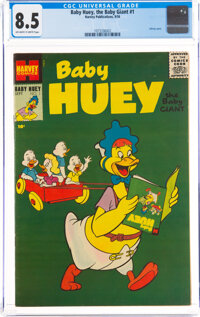 Baby Huey, the Baby Giant #1 (Harvey, 1956) CGC VF+ 8.5 Off-white to white pages