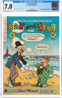 Fat and Slat #1 (EC, 1947) CGC FN/VF 7.0 Off-white to white pages